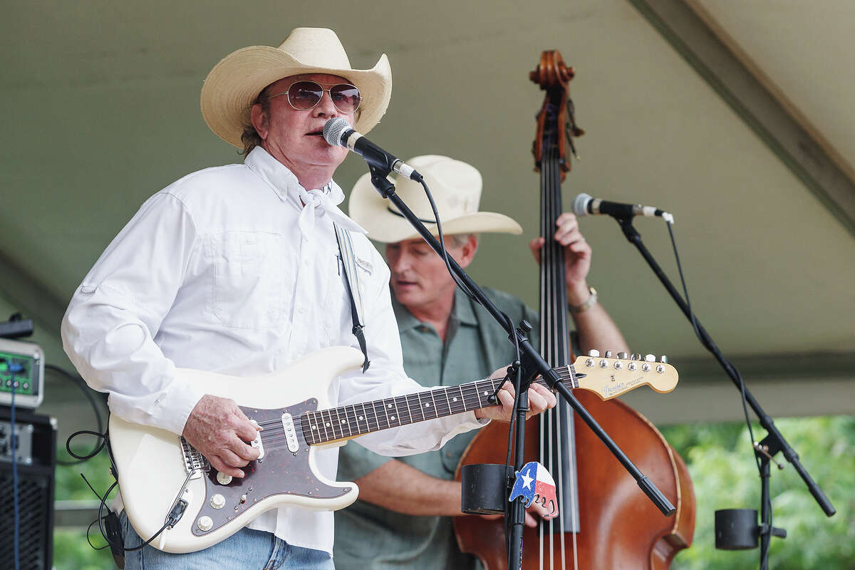Texas country singer/songwriter Gary P. Nunn (left) entertained the crowd on the main stage Saturday afternoon, May 18, 2013, during the Best of BoerneFest 2013 at Main Plaza in Boerne. Photo by Marvin Pfeiffer / Prime Time Newspapers