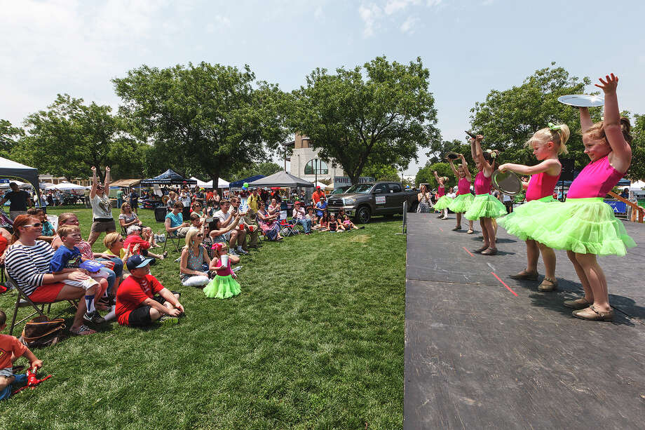Members of the Lonestar Collective Dance Compay entertain the crowd at Boerne's Main Plaza on Saturday, May 18, 2013, during the Best of BoerneFest 2013.  Photo by Marvin Pfeiffer / Prime Time Newspapers Photo: MARVIN PFEIFFER, Marvin Pfeiffer / Prime Time New / Prime Time Newspapers 2013