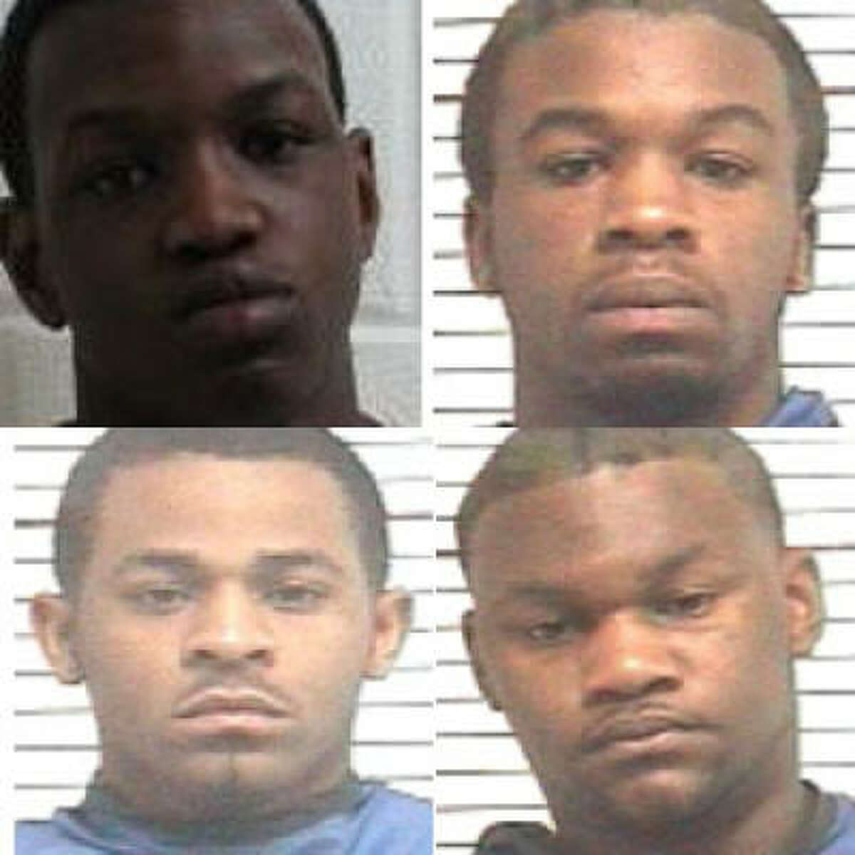 The suspects in the brutal attack are (from top, left) Jared Len Cruse, 18; Timothy Daray Ellis, 19; (from bottom, left) Rayford Tyrone Ellis Jr., 19, and Isaiah Rashad Ross, 21.