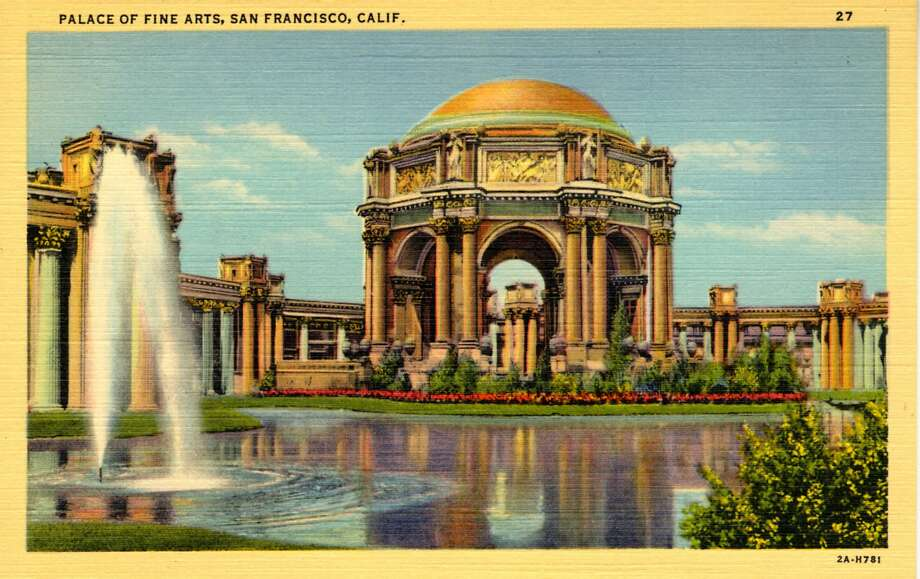 Vintage linen postcard showing the exterior of the Palace of Fine Arts, the only remaining building of the Panama Pacific International Exposition.  Photo: Curt Teich Postcard Archives