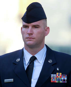 May 22, 2013: The Air Force says basic training instructor Michael Wladischkin had improper relationships with seven women in technical training on Joint Base San Antonio-Lackland. He faces an Article 32 evidentiary hearing Wednesday, May 22 at Joint Base San Antonio-Randolph on allegations of indecent acts, assault, adultery and unprofessional relationships with technical training students. Photo: JOHN DAVENPORT, SAN ANTONIO EXPRESS-NEWS / ©San Antonio Express-News/Photo may be sold to the public