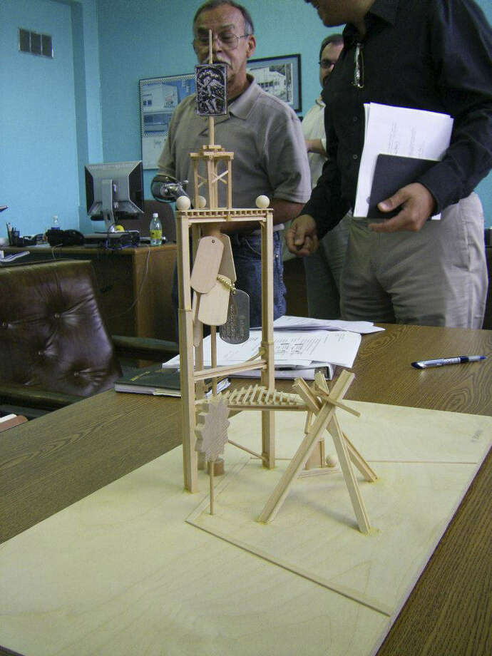 "A model of the ""La Ofrenda Veteran's Monument"" is shown. Photo: Courtesy Photo"