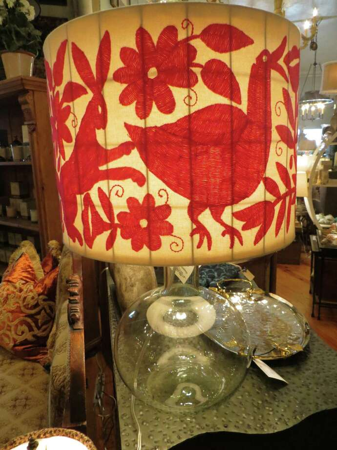 Hunter lamp is available at 5 Broads Off Broadway for $550. Photo: Photos By Jennifer Rodriguez / For The Express-News