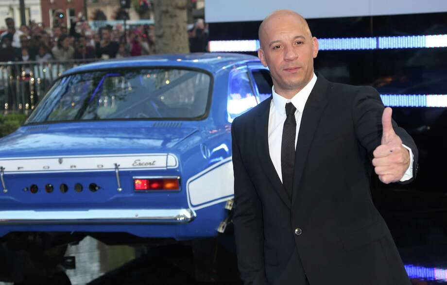 Actor Vin Diesel arrives for the World Premiere of Fast & Furious 6, at a central London cinema in Leicester Square, Tuesday, May 7, 2013. (Photo by Joel Ryan/Invision/AP) Photo: Joel Ryan / Invision