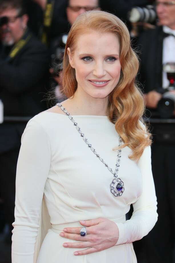 Jessica Chastain attends the Premiere of 'Cleopatra' during the 66th Annual Cannes Film Festival at the Palais des Festivals on May 21, 2013 in Cannes, France.  (Photo by Tony Barson/FilmMagic)