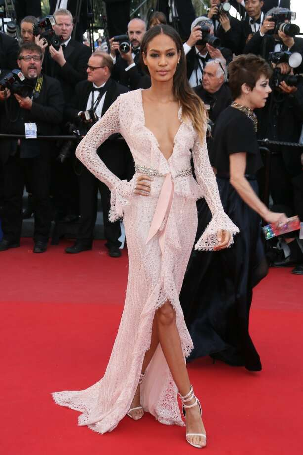 CANNES, FRANCE - MAY 21:  Joan Smalls attends the Premiere of 'Cleopatra' during the 66th Annual Cannes Film Festival at the Palais des Festivals on May 21, 2013 in Cannes, France.  (Photo by Tony Barson/FilmMagic)