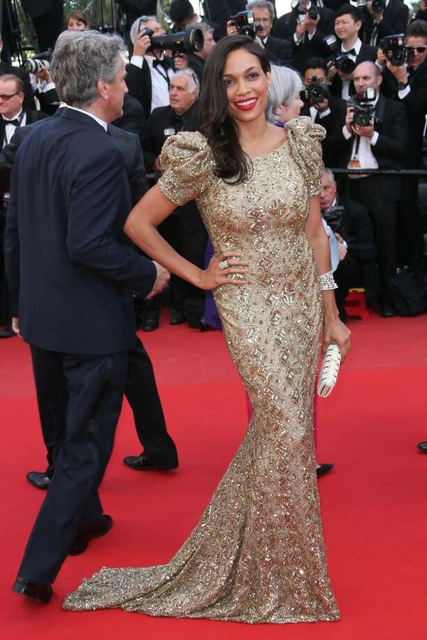 CANNES, FRANCE - MAY 21:  Rosario Dawson attends the Premiere of 'Cleopatra' during the 66th Annual Cannes Film Festival at the Palais des Festivals on May 21, 2013 in Cannes, France.  (Photo by Tony Barson/FilmMagic)