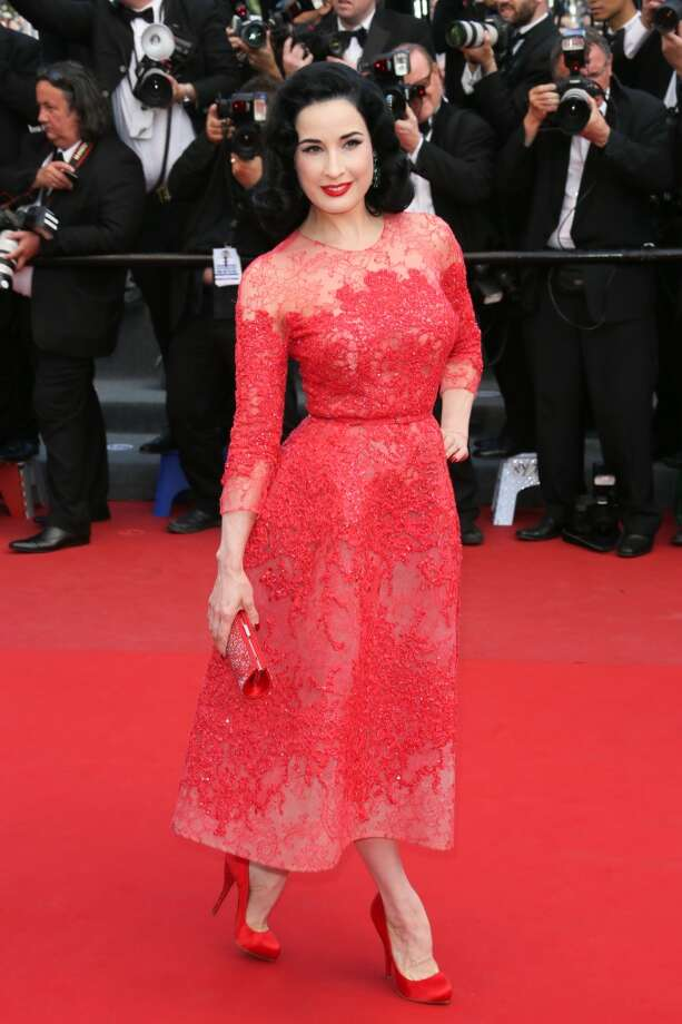 CANNES, FRANCE - MAY 21:  Dita Von Teese attends the Premiere of 'Cleopatra' during the 66th Annual Cannes Film Festival at the Palais des Festivals on May 21, 2013 in Cannes, France.  (Photo by Tony Barson/FilmMagic)