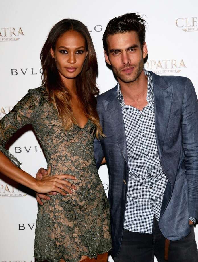 CANNES, FRANCE - MAY 21:  Models Joan Smalls and Jon Kortajarena attend the 'Cleopatra' cocktail hosted by Bulgari during The 66th Annual Cannes Film Festival at JW Marriott on May 21, 2013 in Cannes, France.  (Photo by Vittorio Zunino Celotto/Getty Images for Bulgari)