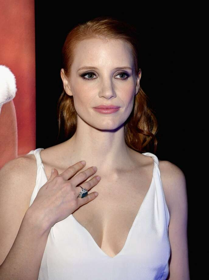 CANNES, FRANCE - MAY 21:  Actress Jessica Chastain attends the 'Cleopatra' cocktail hosted by Bulgari during The 66th Annual Cannes Film Festival at JW Marriott on May 21, 2013 in Cannes, France.  (Photo by Venturelli/Getty Images for Bulgari)