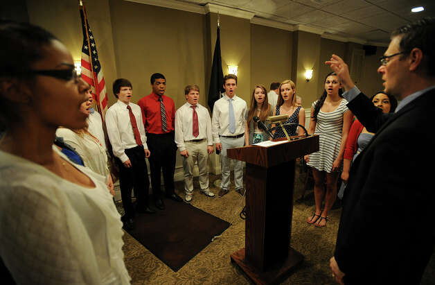 The Stratford High School Singers perform at the Town of Stratford's 2013 Veterans Breakfast at Vazzano's Four Seasons banquet facility in Stratford, Conn. on Wednesday, May 22, 2013. Photo: Brian A. Pounds / Connecticut Post