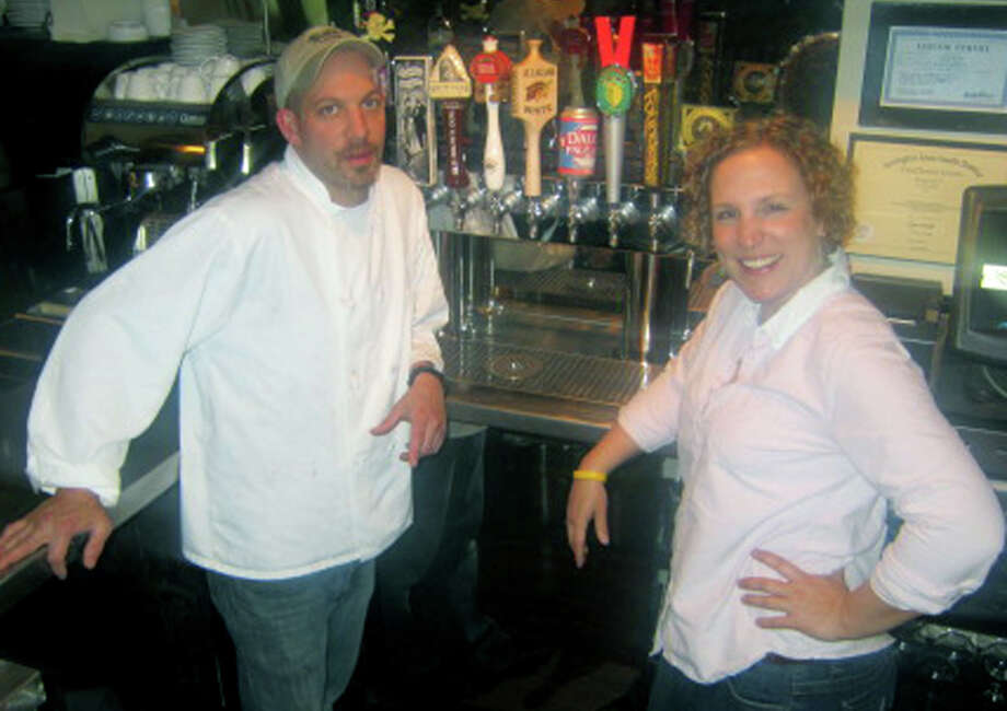 Anna Gowan is the owner/founder of the Kingsley Tavern in Kent. Her chef, Charles Dietrich, offers patrons a diverse menu of lunch and dinner selections. May 2103 Photo: Norm Cummings