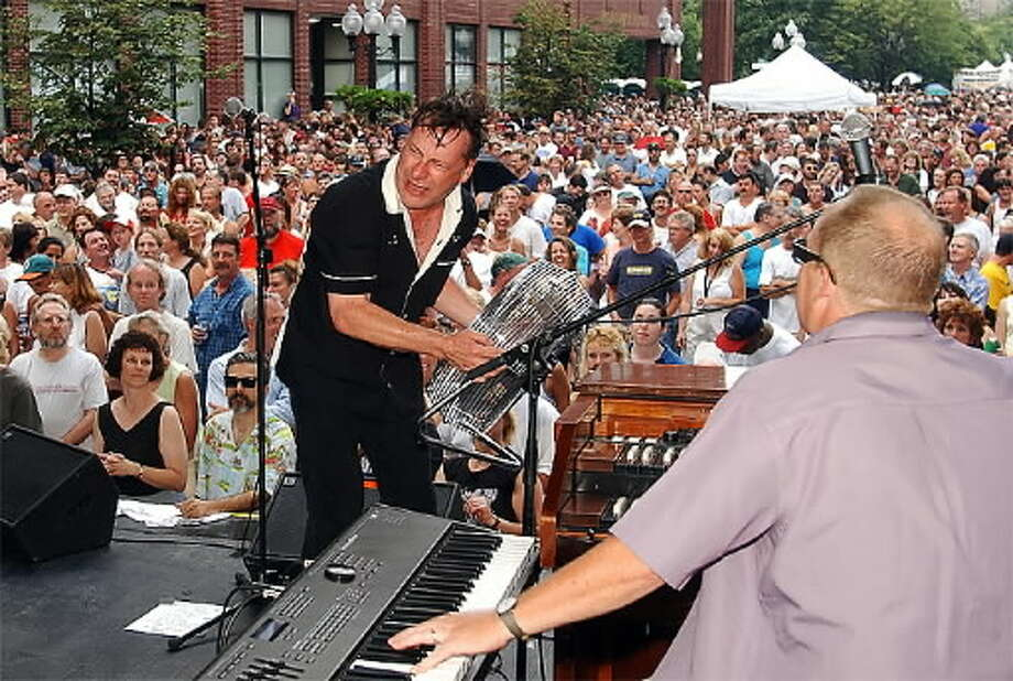 Southside Johnny and the Jukes performing at Albany's Alive at Five in 2002 (Times Union photo / James Goolsby)