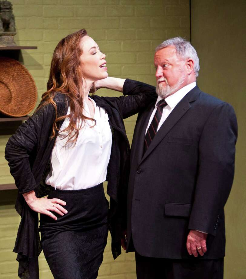 "Diva writer Vanessa (Carolyn Johnson) flirts with editor Paul (Rutherford Cravens) in ""Close Up Space."" Photo: Nick De La Torre, Staff / © 2013 Houston Chronicle"