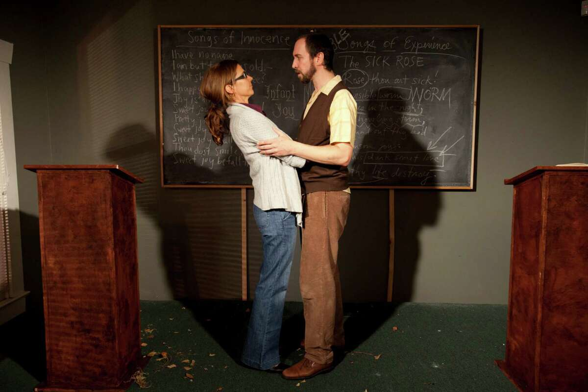 Scenes from Catastrophic Theatre's There Is a Happiness That Morning Is, Sept. 13, 2011 in Houston. (Eric Kayne/For the Chronicle)