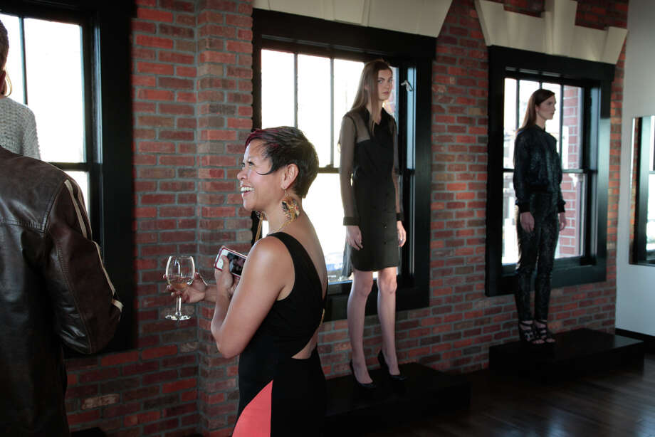 On May 1, Sabah Husain and Bethany Meuleners previewed their fall/winter 2013 collection for Mansoor Scott in Ghiradelli Square.