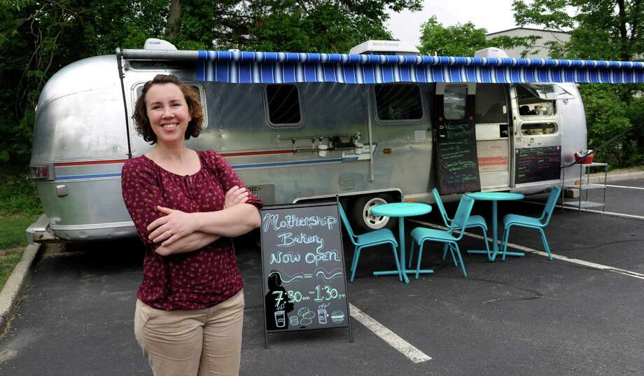 Anna Llanos is the owner of Mothership Bakery & Cafe in Danbury, Conn. Photo: Carol Kaliff / The News-Times