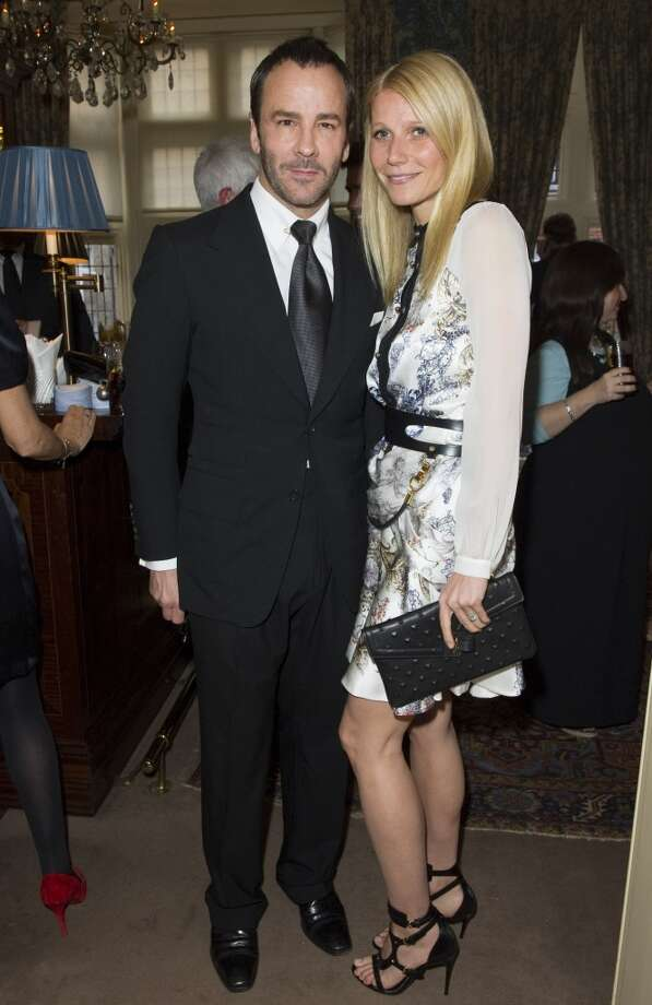 LONDON - MAY 21:  Tom Ford and Gwyneth Paltrow pose at Goop's party to launch the summer season,  at Mark's Club on May 21, 2013 in London, England.  (Photo by David M. Benett/Getty Images)