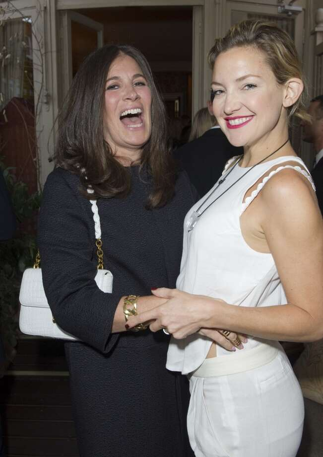 LONDON - MAY 21:  Elizabeth Saltzman and Kate Hudson  pose at Goop's party to launch the summer season,  at Mark's Club on May 21, 2013 in London, England.  (Photo by David M. Benett/Getty Images)