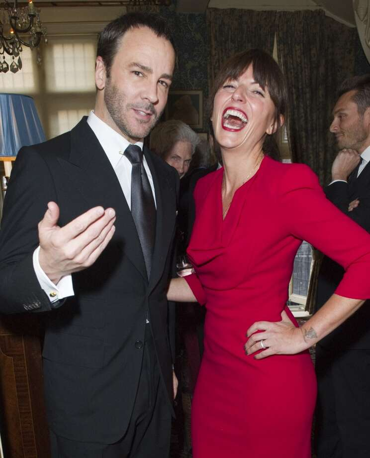 LONDON - MAY 21:  Tom Ford and  Davina McCall pose at Goop's party to launch the summer season,  at Mark's Club on May 21, 2013 in London, England.  (Photo by David M. Benett/Getty Images)
