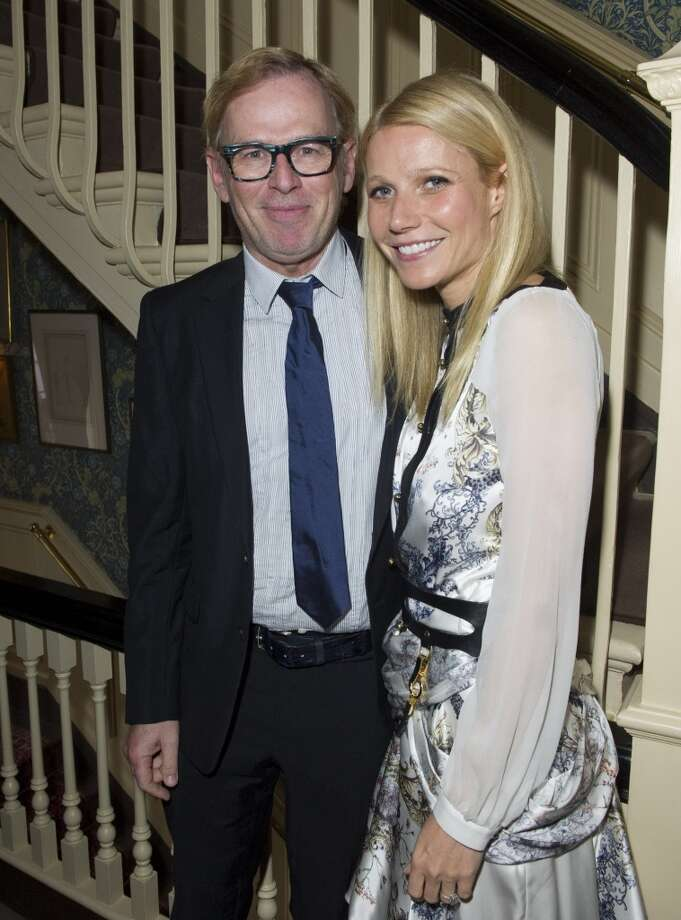 LONDON - MAY 21:  David Collins and Gwyneth Paltrow pose at Goop's party to launch the summer season,  at Mark's Club on May 21, 2013 in London, England.  (Photo by David M. Benett/Getty Images)