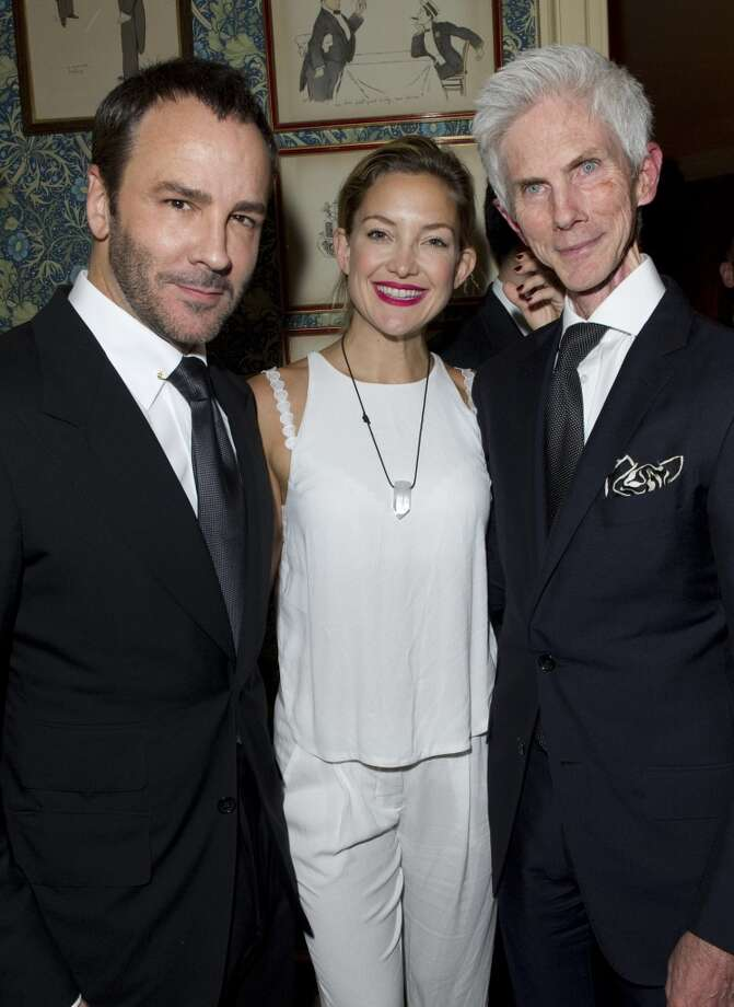 LONDON - MAY 21:  Tom Ford, Kate Hudson and Richard Buckley pose at Goop's party to launch the summer season,  at Mark's Club on May 21, 2013 in London, England.  (Photo by David M. Benett/Getty Images)