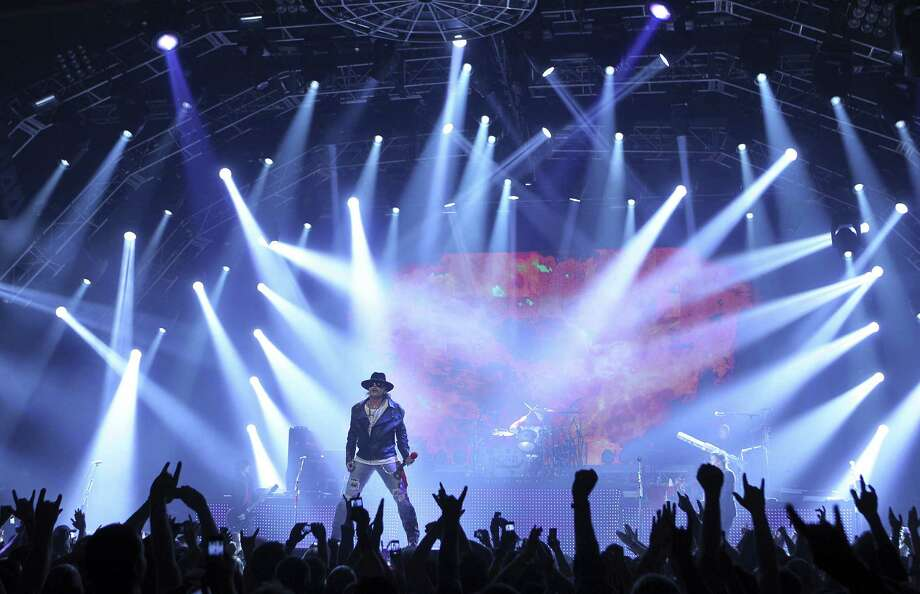 Axl Rose will bring his revamped Guns N' Roses to the Bud Light City Rockfest at the AT&T Center grounds Sunday.