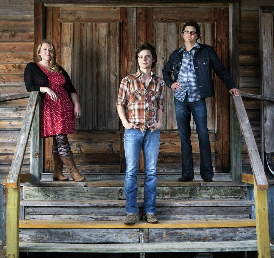 Emily Gimble (from left), Warren Hood and Willie Pipkin of the Warren Hood Band will perform Sunday at the Kerrville Folk Festival. Photo: Red Parlor Records