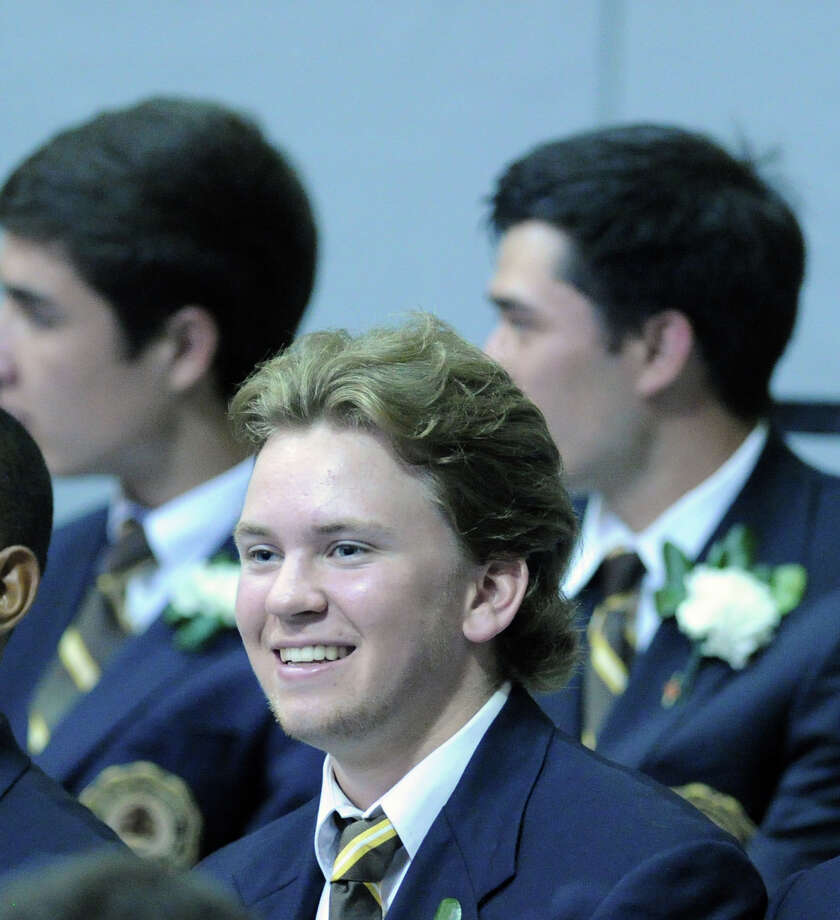 Brunswick School graduaing senior, Gryphon Richardson of Stamford, during the graduation at the school in Greenwich, Wednesday, May 22, 2013. Photo: Bob Luckey / Greenwich Time
