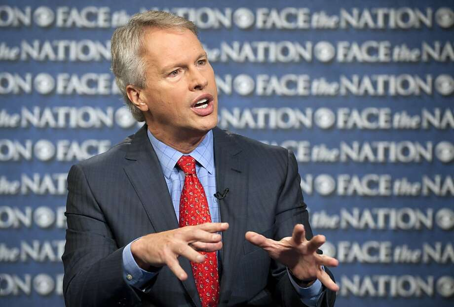 "In this Sunday, May 19, 2013, photo provided by CBS News, Gary Pruitt, the President and CEO of the Associated Press, discusses the leak investigation that led to his reporters' phone records being subpoenaed by the Justice Department on CBS's ""Face the Nation"" in Washington. Pruitt says DoJ's seizure of AP journalists' phone records was ""unconstitutional"", and that the secret subpoena of reporters' phone records has made sources less willing to talk to AP journalists. (AP Photo/CBS, Chris Usher) Photo: Chris Usher, Associated Press"