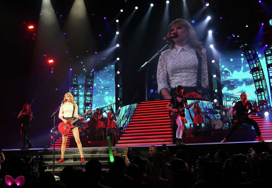 "Taylor Swift performs during her ""Red"" tour at the AT&T Center, Wednesday, May 22, 2013. Photo: JERRY LARA, San Antonio Express-News / © 2013 San Antonio Express-News"