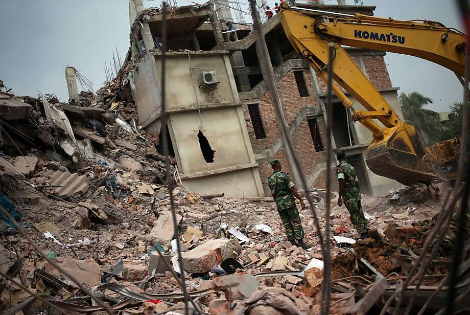 The Rana Plaza building in Bangladesh collapsed on April 24, killing more than 1,000 garment workers. Rep. George Miller, D-Martinez, visited recently to meet with government officials, factory owners and survivors. Photo: Wong Maye-E, Associated Press