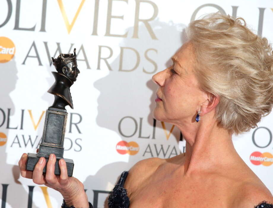 LONDON, ENGLAND - APRIL 28:  Helen Mirren poses in the press room at The Laurence Olivier Awards at The Royal Opera House on April 28, 2013 in London, England. Photo: Mike Marsland, WireImage / 2013 Mike Marsland