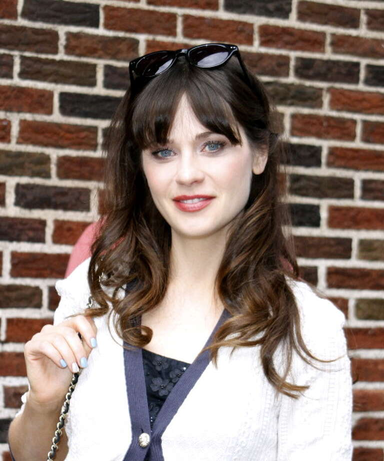 """NEW YORK, NY - MAY 07: Zooey Deschanel arrives for the """"Late Show with David Letterman"""" at Ed Sullivan Theater on May 7, 2013 in New York City. Photo: Donna Ward, Getty Images / 2013 Donna Ward"""