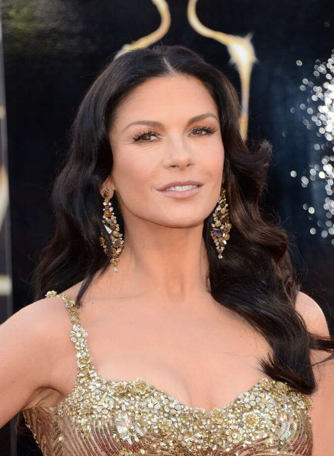HOLLYWOOD, CA - FEBRUARY 24:  Actress Catherine Zeta-Jones arrives at the Oscars at Hollywood & Highland Center on February 24, 2013 in Hollywood, California. Photo: Jason Merritt, Getty Images / 2013 Getty Images