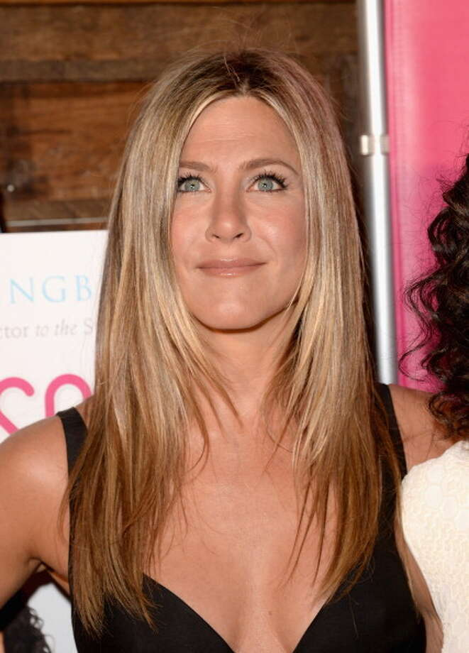 """LOS ANGELES, CA - APRIL 30:  Actress Jennifer Aniston attends SELF Magazine and Jennifer Aniston's celebration of Mandy Ingber's new book """"Yogalosophy: 28 Days to the Ultimate Mind-Body Makeover"""" (Seal Press) on April 30, 2013 in Los Angeles, California. Photo: Jason Merritt / 2013 Getty Images"""
