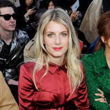 LONDON, ENGLAND - FEBRUARY 18:  Melanie Laurent sits in the front row for the Burberry Prorsum Autumn Winter 2013 Womenswear Show at Kensington Gardens on February 18, 2013 in London, England.