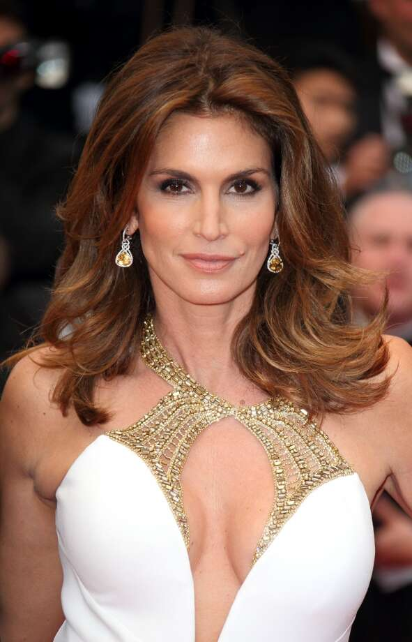 CANNES, FRANCE - MAY 15:  Cindy Crawford attends the Opening Ceremony and Premiere of 'The Great Gatsby' at The 66th Annual Cannes Film Festival at Palais des Festivals on May 15, 2013 in Cannes, France.  (Photo by Mike Marsland/WireImage)