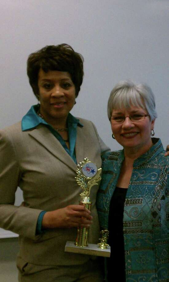 Glenda Koctar, right is the president of the Spring Ahead Speakers Toastmasters club in The Woodlands. She is pictured with fellow Toastmaster and mentee Tania Turner.