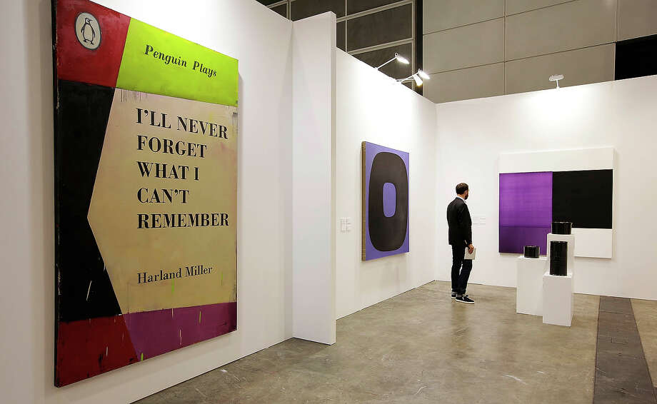 'I'll Never Forget What I Can't Remember' by Harland Miller, represented by the Ingleby Gallery, Edinburgh at Art Basel, on May 22, 2013 in Hong Kong. Photo: Jessica Hromas, Getty Images / 2013 Getty Images