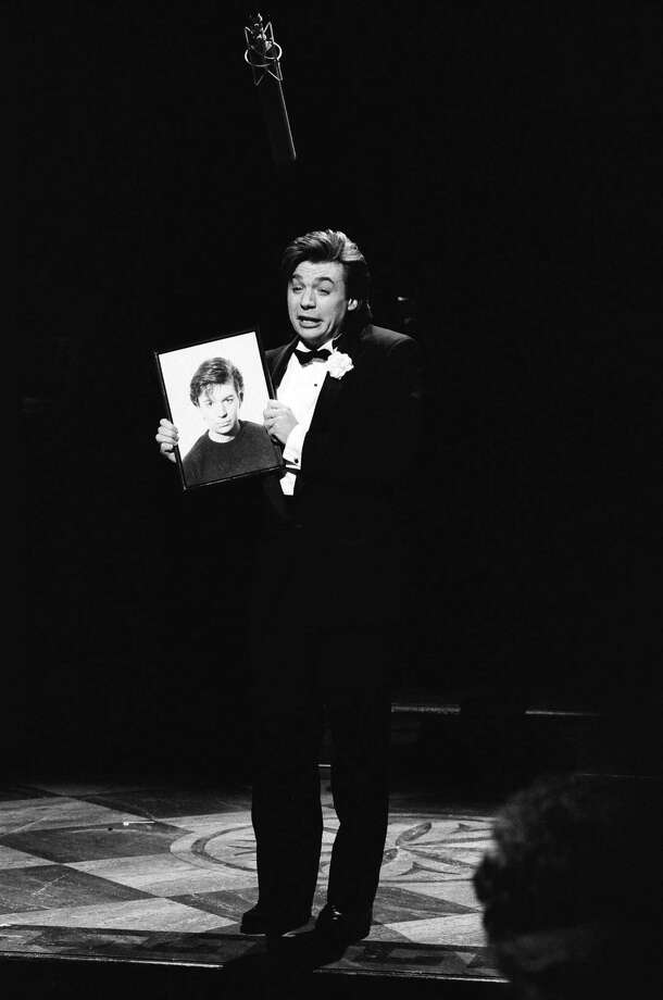 "Mike Myers as Lank Thompson during the ""Lank Thompson: I'm A Handsome Man"" skit on Oct. 21, 1989. (Photo by Raymond Bonar/NBC/NBCU Photo Bank) Photo: NBC, Getty Images / © NBC Universal, Inc."