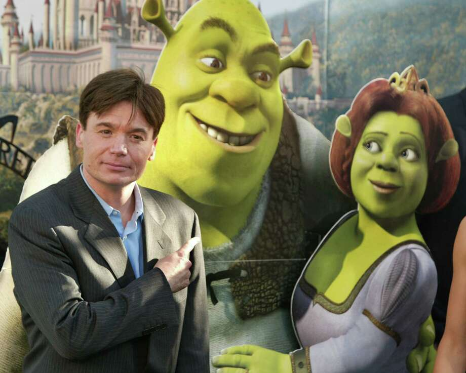 "Mike Myers, Shrek and Fiona during ""Shrek 2"" pictured during the film's Los Angeles Premiere. (Photo by Chris Polk/FilmMagic) Photo: Chris Polk, Getty Images / FilmMagic"