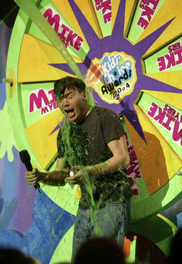 Mike Myers gets slimed at Nickelodeon's 17th Annual Kids' Choice Awards at Pauley Pavilion on the campus of UCLA, April 3, 2004 in Westwood, California. Photo: Frank Micelotta, Getty Images / 2004 Getty Images