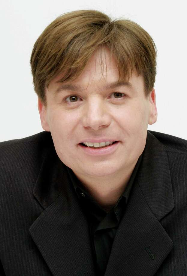 "Mike Myers answers questions from the press at a junket for his new film ""The Cat in the Hat"" at the Four Seasons Hotel on Nov. 8, 2003 in Beverly Hills, Calif. Photo: Fotos International, Getty Images / 2003 Getty Images"