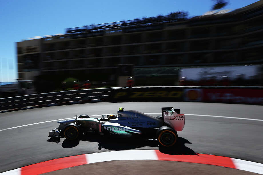 Lewis Hamilton of Great Britain and Mercedes GP drives during practice for the Monaco Formula One Grand Prix at the Circuit de Monaco on May 23, 2013 in Monte-Carlo, Monaco. Photo: Clive Mason, Getty Images / 2013 Getty Images