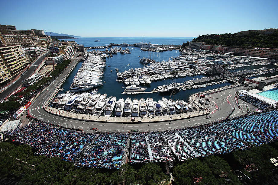 General view as the cars round the harbor and swimming pool complex during practice for the Monaco Formula One Grand Prix at the Circuit de Monaco on May 23, 2013 in Monte-Carlo, Monaco. Photo: Mark Thompson, Getty Images / 2013 Getty Images