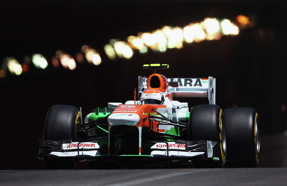 Adrian Sutil of Germany and Force India drives during practice for the Monaco Formula One Grand Prix at the Circuit de Monaco on May 23, 2013 in Monte-Carlo, Monaco. Photo: Bryn Lennon, Getty Images / 2013 Getty Images
