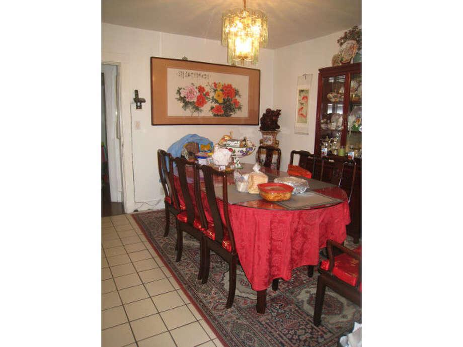 Dining area. Photos via Elizabeth Machado, Figueroa Realty/Redfin/MLS