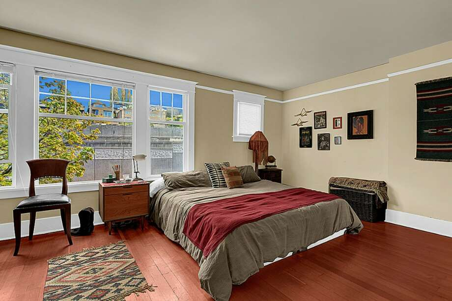 One of the bedrooms. Photos via Chad Pluid/Redfin