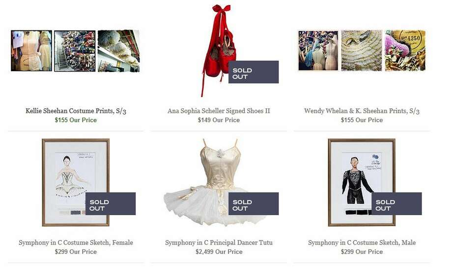 A screen grab from the New York City Ballet tag sale on Onekingslane.com (Times Union) Photo: Janairo, Michael
